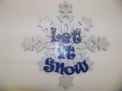 Snowflake Decorated Door Hanging