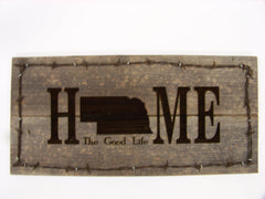 """Home"" Barnwood Sign"
