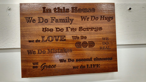 """In This House"" Wall Hanging"