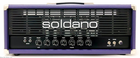 Soldano Avenger 100 / Purple tolex / Nickel hardware