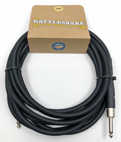 Rattlesnake Cable Company - 15' Standard - Black - Straight Plugs