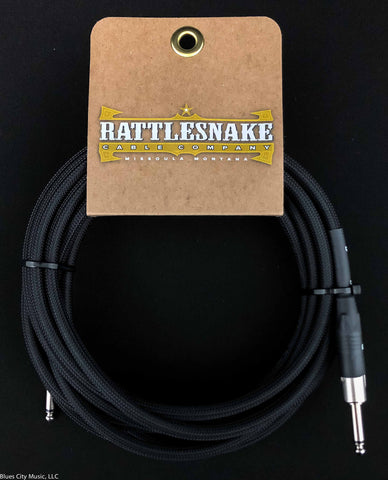 Copy of Rattlesnake Cable Company - 15' Standard - Black - Straight Plugs
