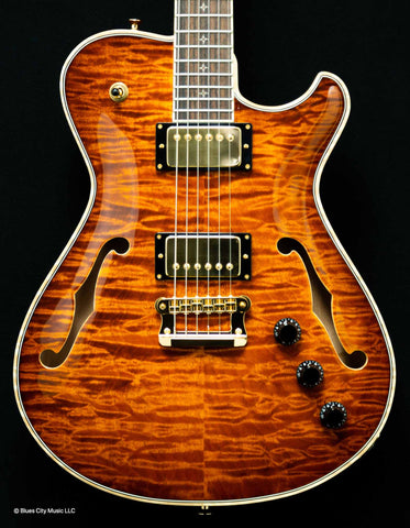 Knaggs Guitars - Influence Chena - T1 Quilt - Aged Scotch - Hollowbody