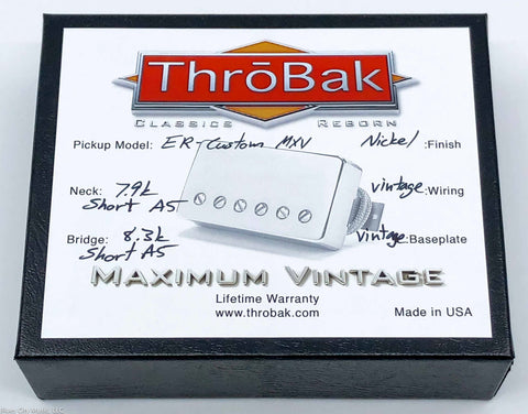 ThroBak ER-Custom MXV - P.A.F. Humbuckers - Shiny