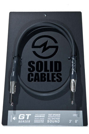 Solid Cables GT series / speaker cable 3' SPEAK ON