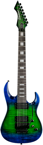 2015 Diamond Guitars Halcyon FM-FR 7-string Electric Guitar - Jade Iridium