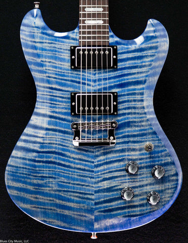 Knaggs Guitars - Honga - Faded Blue Jeans - T2 top