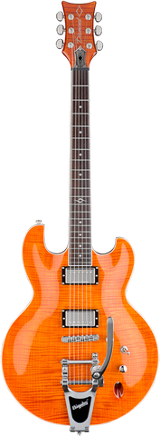 Diamond Guitars Imperial FM 3 Electric Guitar With Bigsby Tremolo - Trans Burnt Orange