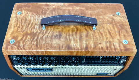 Mesa Boogie JP2C head - (John Petrucci) - Custom Shop - Quilt Maple/Amber Stain / Wicker Grille