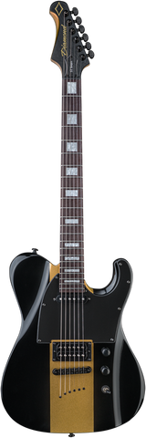 Diamond Guitars Maverick ST Electric Guitar - Black and Gold
