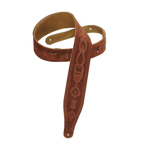 MS17T02-RST Hand-brushed Suede Guitar Strap