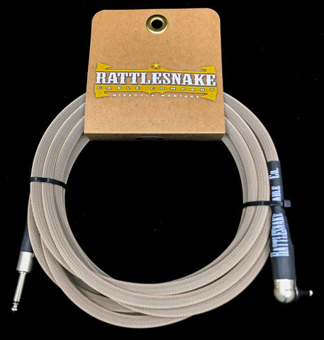 Rattlesnake Cable Company - 15' Standard - Dirty Tweed - Mixed Plugs