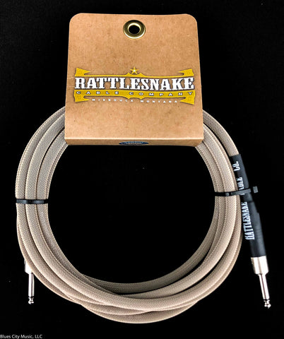 Rattlesnake Cable Company - 15' Standard - Dirty Tweed - Straight Plugs