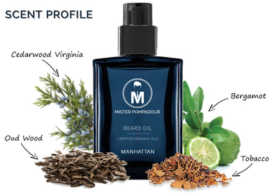 Mister Pompadour - Manhattan Beard Oil, 1 oz (Organic)
