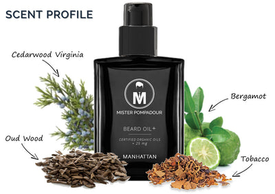 Mister Pompadour - Manhattan Beard Oil+, 1 oz