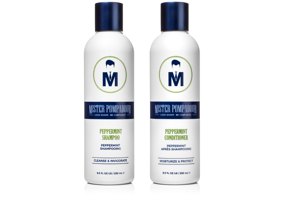 Mister Pompadour - Peppermint Shower Set, 8.5 oz