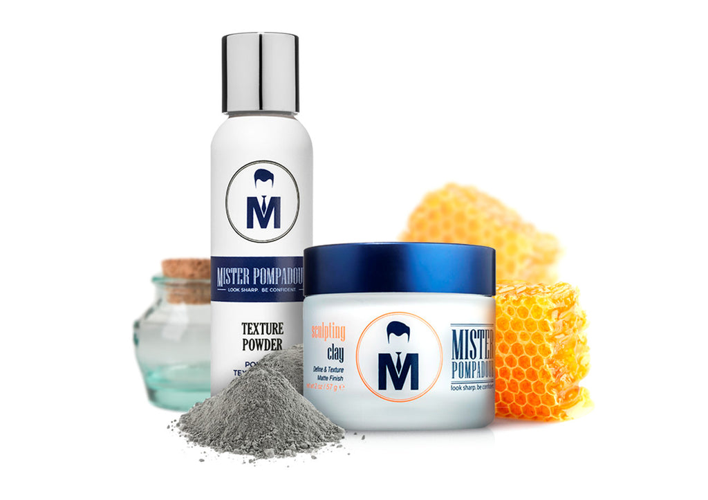 Mister Pompadour Pomade And Texture Powder Men S Hair Care Combo
