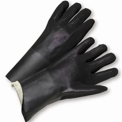 "Gloves West Chester 1047RF Black PVC Coated, 14"" Length"