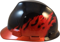 Hard Hat Black Flames Cap