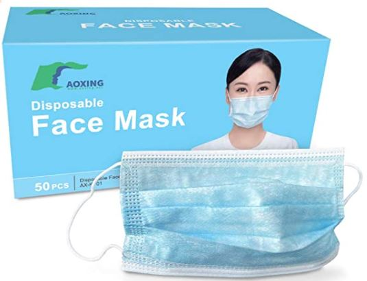 Aoxing RES-7501S Disposable Face Masks 50ct to a Box