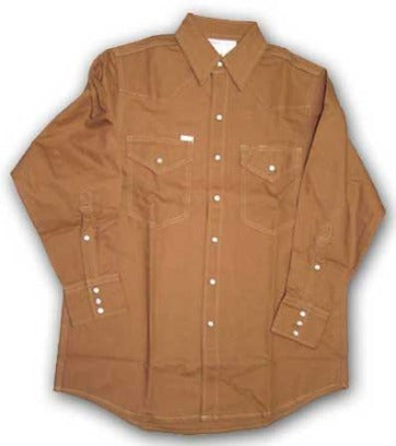 10 oz. 100% Cotton FR Heavy Weight Shirt, Rasco FR, DDF1008 - Brown Duck