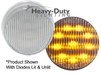 "HD20010YC  2"" Round Amber LED Clearance Marker / Clear Lens"