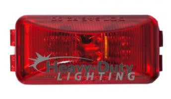 HD25108R  2-1/2 Rectangular RED LED 2-Pin Clearance Marker