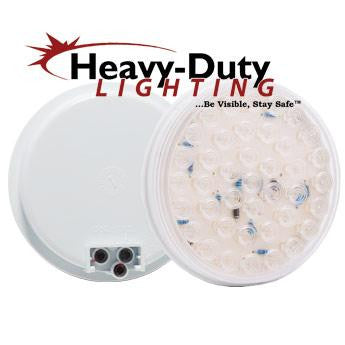 "HD40040RC 4"" Round RED diode Clear Lens Stop / Tail / Turn"