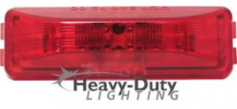 "HD40112R  4"" Rectangular RED LED 2-Pin Clearance Marker"