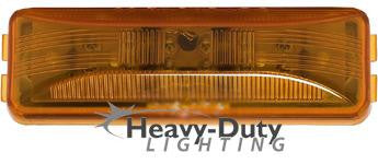 "HD40112Y  4"" Rectangular Amber LED 2-Pin Clearance Marker"