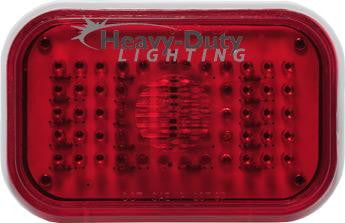 "HD50060R 5"" Rectangular RED Stop/Tail/Turn"