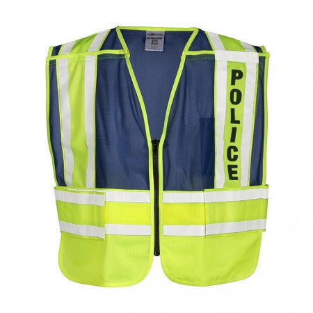 ML Kishigo 8051BZ 200 PSV Police Safety Vest Lime Yellow and Blue