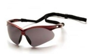 Safety Glasses-Pyramex PMXTREME  SR6320SP Safety Glasses - Red Frame - Gray Lens