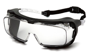 Goggles-Pyramex Cappture S9910STMRG - Clear H2MAX Anti-Fog Lens with Rubber Gasket - Over Spectacle Goggles