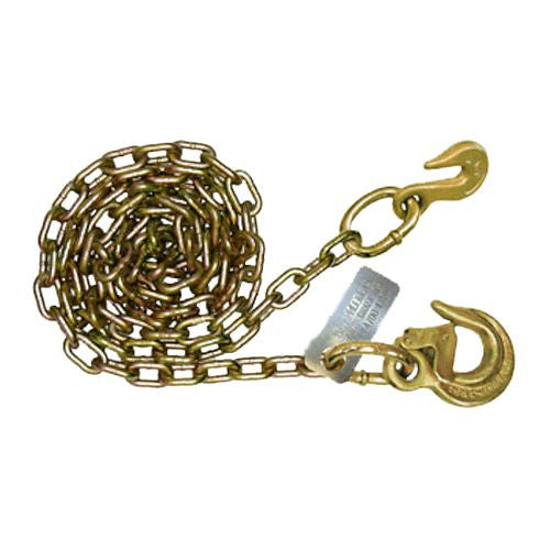 "Chain Assy, 5/16"" Grade 70 with Heavy Duty Latched Sling Hook one End & Grab Hook on other End"