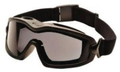 Goggles-Pyramex GB6420SDT V2G Plus Safety Goggle - Black Frame - Dual Gray Anti-Fog Lens