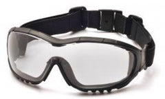 Goggles-Pyramex GB8210STRX V3G Safety Glasses Black Frame Clear Lens H2XMAX Anti-Fog