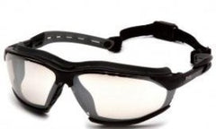 Goggles-Pyramex Isotope GB9480ST - Black Frame w/ Rubber Gasket - Indoor/Outdoor Anti-Fog Lens