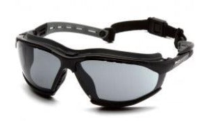 Goggles -Pyramex Isotope GB9420STM - Black Frame w/ Rubber Gasket - Gray H2MAX Anti-Fog Lens
