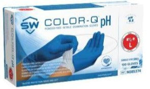 COLOR-Q ® Ph Natural ® Nitrile 2-Ply Powder-Free Exam Gloves Large