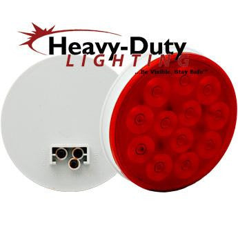"HD40012RSD  4"" Round RED Stop / Tail/ Turn"