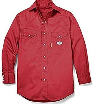 7.5 oz. FR Light Weight Work Shirts Rasco FR RR756- Red