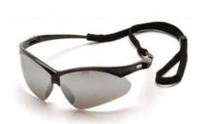 Safety Glasses-Pyramex PMXTREME SB6370SP - Black Frame - Silver Mirror Lens
