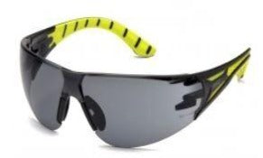 Safety Glasses-Pyramex Endeavor Plus SBGR9620S- Black/Green Temples - Gray Lens