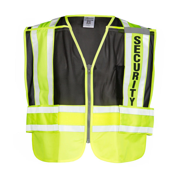ML Kishigo 8055BZ 200 PSV Security Safety Vest Lime Yellow and Black