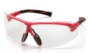 Safety Glasses-Pyramex Onix SP4910S - Pink/Black Frame - Clear Lens