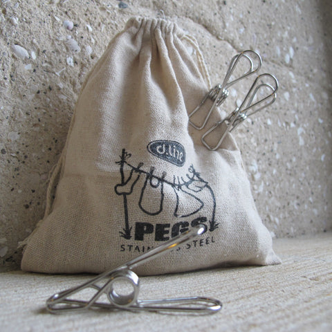 Wire Pegs: 36 Hemp Bag