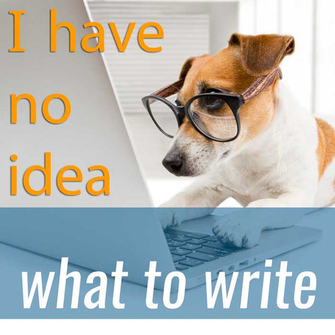 Writing dog with writer's block