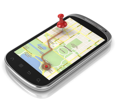 Map app on mobile phone
