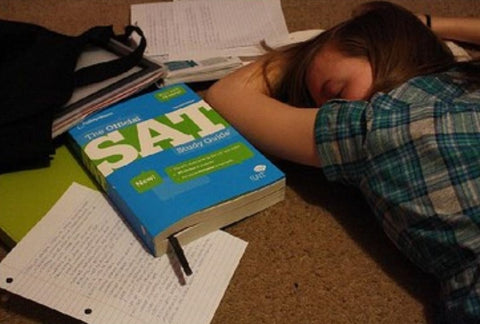 Sleeping while studying for the SAT